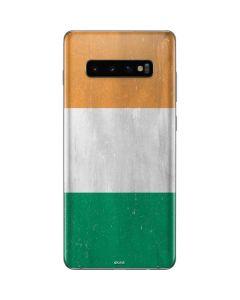 Ivory Coast Flag Distressed Galaxy S10 Plus Skin