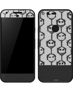 Jack Skellington Grey Split Google Pixel Skin