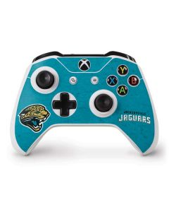 Jacksonville Jaguars Distressed Xbox One S Controller Skin