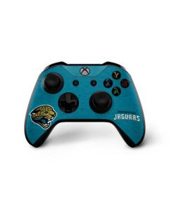 Jacksonville Jaguars Distressed Xbox One X Controller Skin