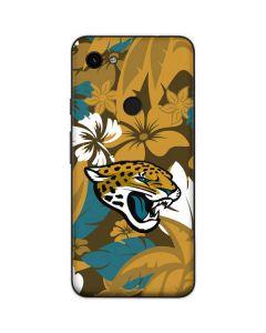 Jacksonville Jaguars Tropical Print Google Pixel 3a Skin
