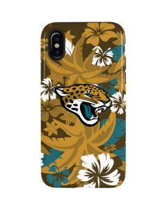 Jacksonville Jaguars Tropical Print iPhone X Pro Case
