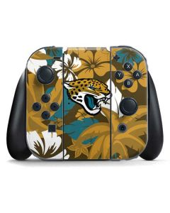 Jacksonville Jaguars Tropical Print Nintendo Switch Joy Con Controller Skin