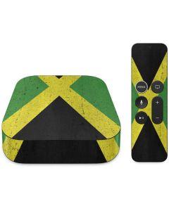 Jamaica Flag Distressed Apple TV Skin