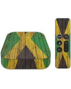 Jamaican Flag Dark Wood Apple TV Skin