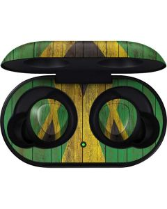 Jamaican Flag Dark Wood Galaxy Buds Skin
