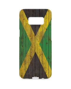 Jamaican Flag Dark Wood Galaxy S8 Plus Lite Case