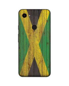 Jamaican Flag Dark Wood Google Pixel 3a Skin