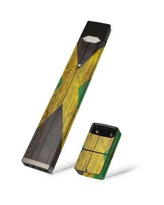Jamaican Flag Dark Wood Juul E-Cigarette Skin