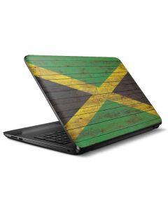 Jamaican Flag Dark Wood HP Notebook Skin