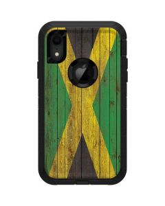 Jamaican Flag Dark Wood Otterbox Defender iPhone Skin