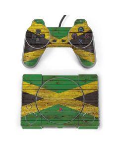 Jamaican Flag Dark Wood PlayStation Classic Bundle Skin