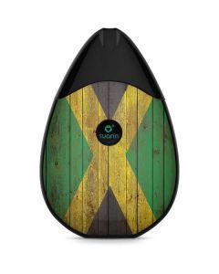 Jamaican Flag Dark Wood Suorin Drop Vape Skin