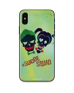Joker and Harley Skull Print iPhone XS Skin