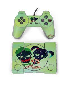 Joker and Harley Skull Print PlayStation Classic Bundle Skin