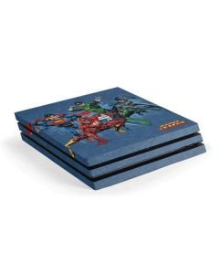 Justice League Heroes PS4 Pro Console Skin