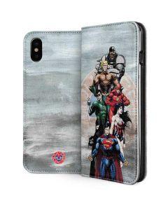 Justice League Heros iPhone XS Max Folio Case