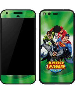 Justice League Team Power Up Green Google Pixel Skin