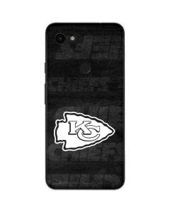 Kansas City Chiefs Black & White Google Pixel 3a Skin