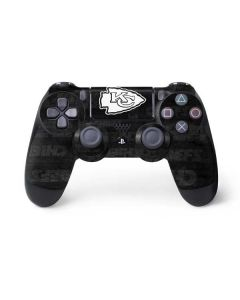 Kansas City Chiefs Black & White PS4 Controller Skin