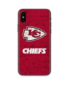 Kansas City Chiefs Distressed iPhone XS Max Skin