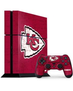 Kansas City Chiefs Distressed PS4 Console and Controller Bundle Skin
