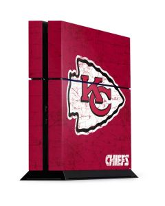 Kansas City Chiefs Distressed PS4 Console Skin