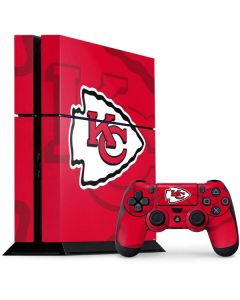 Kansas City Chiefs Double Vision PS4 Console and Controller Bundle Skin