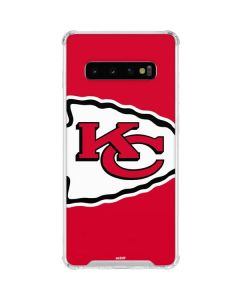Kansas City Chiefs Large Logo Galaxy S10 Clear Case