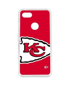 Kansas City Chiefs Large Logo Google Pixel 3 XL Clear Case