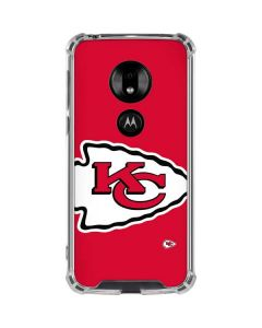 Kansas City Chiefs Large Logo Moto G7 Play Clear Case