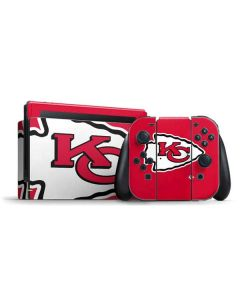 Kansas City Chiefs Large Logo Nintendo Switch Bundle Skin