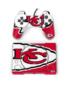 Kansas City Chiefs Large Logo PlayStation Classic Bundle Skin