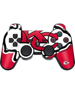 Kansas City Chiefs Large Logo PS3 Dual Shock wireless controller Skin