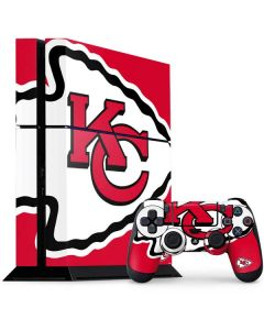 Kansas City Chiefs Large Logo PS4 Console and Controller Bundle Skin