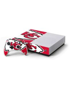 Kansas City Chiefs Large Logo Xbox One S All-Digital Edition Bundle Skin