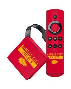 Kansas City Chiefs Red Performance Series Amazon Fire TV Skin