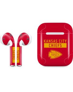 Kansas City Chiefs Red Performance Series Apple AirPods Skin