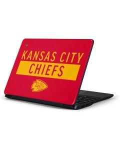 Kansas City Chiefs Red Performance Series Samsung Chromebook Skin