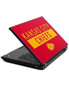 Kansas City Chiefs Red Performance Series Lenovo T420 Skin