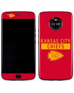 Kansas City Chiefs Red Performance Series Moto X4 Skin