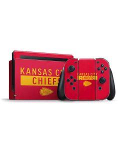 Kansas City Chiefs Red Performance Series Nintendo Switch Bundle Skin
