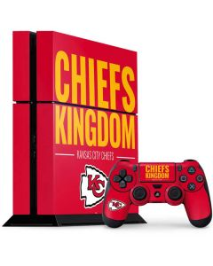 Kansas City Chiefs Team Motto PS4 Console and Controller Bundle Skin