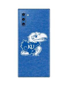 Kansas Jayhawks Mascot Outline Galaxy Note 10 Skin