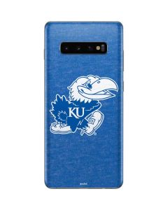 Kansas Jayhawks Mascot Outline Galaxy S10 Plus Skin