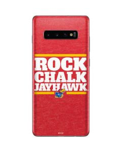 Kansas Rock Chalk Jayhawk Galaxy S10 Plus Skin