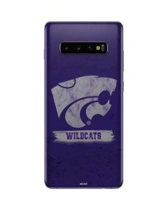 Kansas State Wildcats Distressed Galaxy S10 Plus Skin