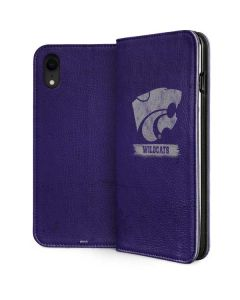 Kansas State Wildcats Distressed iPhone XR Folio Case