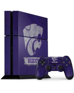 Kansas State Wildcats Distressed PS4 Console and Controller Bundle Skin