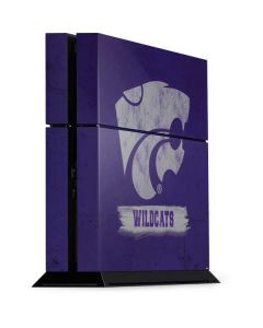 Kansas State Wildcats Distressed PS4 Console Skin